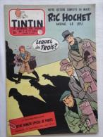 Tintin N° 13 De 1955 Couverture  De Tibet, Ric  Hochet. Le Secret De L'homme En Noir, H.Vernes. Bon état - Kuifje