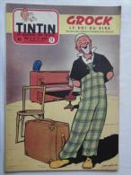 Tintin N° 18 De 1955 Couverture  De  Graton. Grock Cirque Le Secret De L'homme En Noir, H.Vernes. Bon état - Kuifje