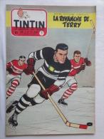 Tintin N° 21 De 1955 Couverture  De  Graton. Hockey. Le Secret De L'homme En Noir, H.Vernes. Bon état - Kuifje