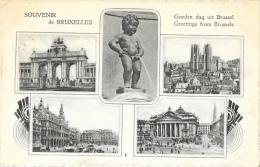 Souvenir De Bruxelles - Multivues - Panoramische Zichten, Meerdere Zichten