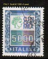 ITALY    Scott  # 1295  VF USED - 6. 1946-.. Republic