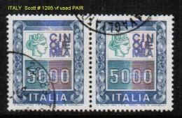 ITALY    Scott  # 1295  VF USED PAIR - 6. 1946-.. Republic