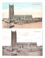 Two Old Postcards Both Of St Buryan Church Cornwall Both Unused - Other
