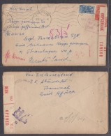 South Africa: Air Mail 5 VI 44 STANDERTON To Prisoner Of War In Germany Cover & Letter - South Africa (...-1961)