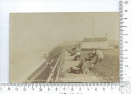 "MUNDESLEY-ON-SEA: Coastguard Station & Beach, Carte Photo "" Albumine "" Avant 1912 ( Unique Au 23/06 ) - Autres"