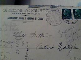 DITTA BOLOGNA  BAZZANO  SPAGHIE  CORDE CANAPA   BUSTA VB1932 EI EK6451 - Bologna