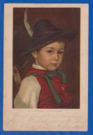 Malerei; Mizi Mizzi Wunsch; Studienkopf; 1902 - Künstlerkarten