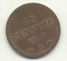 1 CENTIME 1848 SUP - France