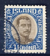 #C2733. Iceland 1920. Christian X. Michel 96. Cancelled(o) - Usati