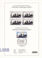 Germany ETB: 1989 800 Jahre Hamburger Hafen (L55B) - [7] Federal Republic