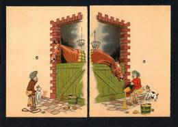 Ilustrador: *Le Rallic*  Ed. B.D 1945. Lote 2 Postales. Nuevas. - Ilustradores & Fotógrafos