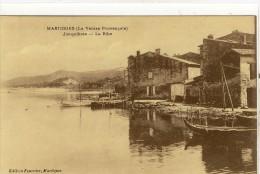 Carte Postale Ancienne Martigues - Jonquières. La Ribe - Martigues