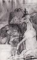 Art GOYA Dibujo. Ni Mas Ni Menos, Monkey Painting, Postcard 126 - Pittura & Quadri