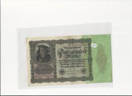Billets -  B1291  - Allemagne  - 50  000 Mark 1922 ( Type, Nature, Valeur, état... Voir 2 Scans) - [ 3] 1918-1933 : Weimar Republic