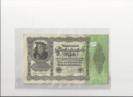 Billets -  B1292 - Allemagne  - 50  000 Mark 1922 ( Type, Nature, Valeur, état... Voir 2 Scans) - [ 3] 1918-1933 : Weimar Republic