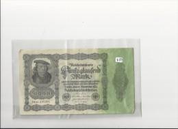Billets -  B1294 - Allemagne  - 50  000 Mark 1922 ( Type, Nature, Valeur, état... Voir 2 Scans) - [ 3] 1918-1933 : Weimar Republic