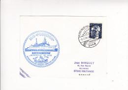 Enveloppe Timbre Tampon Flamme M/S POSEIDON Seetouristik BATEAU Burg Auf Fehmarn Croisiere Reederei Mit Herz - Otros