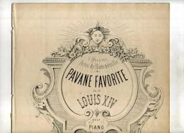 - PAVANE FAVORITE DE LOUIS XIV POUR PIANO . F. BRISSON . - Instruments à Clavier