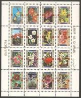 Umm Al-Qiwain 1972 Mi# 1050-1065 Used (small Format) - Flowers - Umm Al-Qiwain