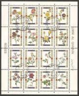 Umm Al-Qiwain 1972 Mi# 1450-1465 Used - Mini Sheet - Roses - Umm Al-Qiwain