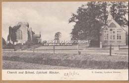 Dorset  LYTCHETT MINSTER Church & School   D234 - Angleterre