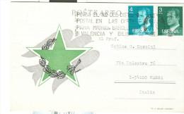 ESPERANTO, CARTOLINA  ZARAGOZA SPAGNA X MASSA ITALIA,1977, - Esperanto