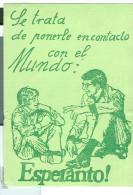 ESPERANTO, CARTOLINA CASA DE SEGURA , ALICANTE, X MASSA ITALIA, 1977, - Esperanto
