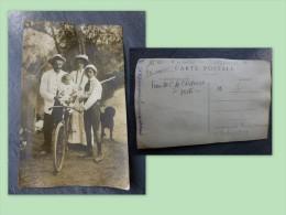 89 SENS, Famille C De CARVALHA, Photo Lespagnol à Créteil, Vélo, Bords De Marne  ; Ref 194 - Fotos