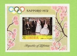 LIBERIA BLOC FEUILLET N° 57 (YT)  SAPPORO 1972 ET FAMILLE ROYALE JAPONAISE - Liberia