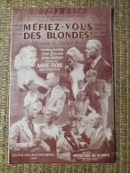 PARTITION - FILM - MEFIEZ VOUS DES BLONDES - ANNIE FLORE - ED. BEUSCHER - Compositeurs De Musique De Film