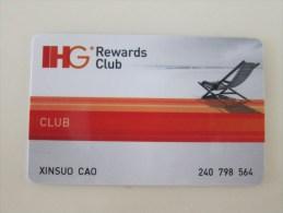 IHG Rewards Club,Intercontinental Hotels And So On - Hotel Keycards