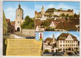 Günzburg An Der Donau , Mehrbildkarte , Stadt Turm - Teilansicht - Liebfrauenkirche U. Sparkasse - Guenzburg