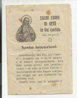80034 PUBBLICAZIONE RELIGIOSA SACRO CUORE DI GESU' IN VOI CONFIDO  SANTE INTEZIONI - Santini