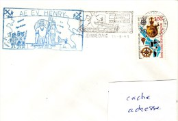 A.E. EV HENRY   GEAOM 92/93 Obl. Jeanne D´Arc 15/03/93 - Postmark Collection (Covers)