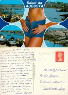 Augusta, Sicily, Italy Italia Postcard Posted 1991 GB Stamp MARITIME MAIL - Siracusa