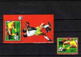 Fussball-WM In Rom Italien 1990 Guinea Bissau 1080 Plus Block 281 O 5€ Stürmerbein M/s Sport Bloc Soccer Sheet Bf Africa - Guinée-Bissau
