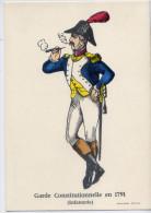Collection D´Uniformes--Garde Constitutionnelle En 1791 (infanterie)  Cpm N° 21  éd Pellerin à Epinal - Uniformes