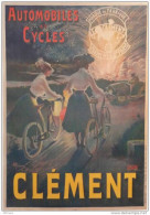 AFFICHE  DES AUTOMOBILES ET CYCLES CLEMENT - VELO  - SIGNEE GUILLAUME - Affiches