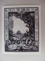 Ex Libris Amy Gildersleeve Shuey From The Library Of Paul Baldwin Shuey (Weylt ?) - Ex Libris