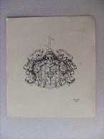 Ex Libris Dr. Med. J. Strebel - Stat Crux Dum Volvuntur Lunac Stellae - J. Pircher 1943 - Ex Libris