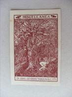 Ex Libris Incisione Miscellanea. Giovanni Targioni - Tozzetti. De Fonseca - Ex Libris