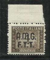 TRIESTE A 1947 1949 AMG-FTT SOPRASTAMPATO D´ITALIA ITALY OVERPRINTED SEGNATASSE TAXES TASSE POSTAGE DUE LIRE 4 MNH - 7. Trieste
