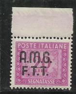 TRIESTE A 1947 1949 AMG-FTT SOPRASTAMPATO D´ITALIA ITALY OVERPRINTED SEGNATASSE TAXES TASSE LIRE 20 MNH BEN CENTRATO - Taxe