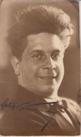 Kunstfoto Leopold Maximiliaan Felix Timmermans Letterkundige, Dichter , Schrijver  Fotokaart Handtekening    Scan 7588 C - Célébrités