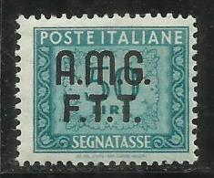 TRIESTE A 1947 1949 AMG-FTT SOPRASTAMPATO D´ITALIA ITALY OVERPRINTED SEGNATASSE TAXES TASSE LIRE 50 MNH - 7. Trieste