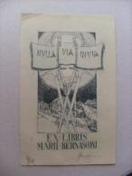 Ex Libris Marii Bernasconi Con Firma/autografo Luigi Angelini 1932 - Ex Libris