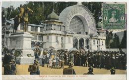 Bogota Exposicion 1910 Pabellon De Industrias Circulada A Pepinster Belgica Militares Con Casco Aleman - Colombie
