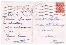 CASABLANCA. Cachet Bleu Le Vaguemestre. Base Militaire De Casablanca.Timbre F.M. 1949 - Marruecos (1956-...)