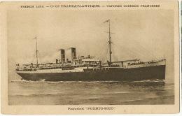 Paquebot Puerto Rico French Lines CGI Cie Generale Transatlantique - Puerto Rico