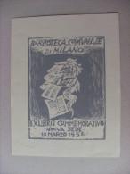 Ex Libris Biblioteca Comunale Di MILANO Commemorativo Nuova Sede 1956 - Ex Libris